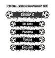 football championship 2018 group g vector image