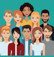 people group team community vector image