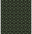 Seamless laurel wreath pattern of cross ornament vector image