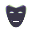 comedy theatrical masks  colorful icon vector image