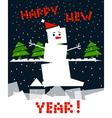 Cubic snowman vector image vector image