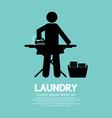 Laundry Black Symbol Graphic vector image