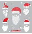 hat and beard santa vector image