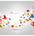 Origami paper bird on abstract background vector image
