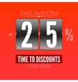 Sale design for coupon vector image