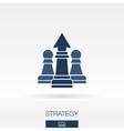 Strategy concept icon logo vector image vector image