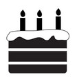 birthday cake icon on white background flat style vector image