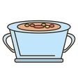 cartoon pot soup cooking vegetables design vector image