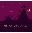 Christmas background with Santa and deers vector image