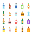 Color icon set - bottle and beverage vector image