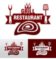 grill graphic sign vector image