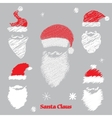 hat and beard santa vector image