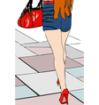 I do two steps in the city 2 vector image