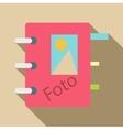 Photo album icon flat style vector image