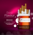 premium cigarettes pack ad template vector image