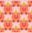 seamless pattern piggy money bank cartoon pig with vector image