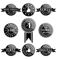 Set of Premium Quality and Winner Labels vector image