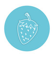 strawberry fresh fruit icon vector image