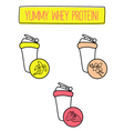 tasty protein shakes for fintess diet vector image