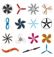 Propeller fan icons set vector image
