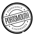 Portsmouth stamp rubber grunge vector image