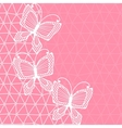 Lace background with butterflies vector image vector image