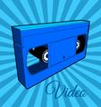 Video Cassette Tape vector image