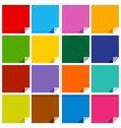 16 colored blank squares vector image