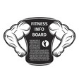 sports nutrition board vector image