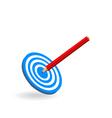 target bullseye vector image