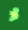 Irish Contour of Map vector image vector image