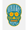 Mexican sugar skull with lettering vector image