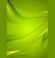 Abstract green wavy shiny background vector image