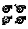 Turbocharger Icons Set Isolated on a White vector image