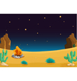 Night time Desert vector image