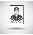 Baseball card icon vector image vector image