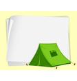 Camping Tent paper copyspace vector image