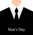 celebration card for International mans day - vector image