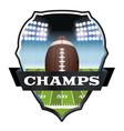 Football Champs Badge vector image
