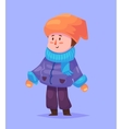 Funny of boy cartoon character vector image