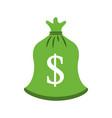 green bag money bank treasure sack vector image