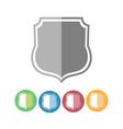 royal guard shield icons vector image