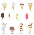 set of ice creams vector image