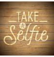 slogan wood color social selfie vector image