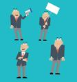 businessman icons set vector image