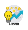 business growth flat line icons vector image
