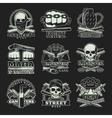 Gangster Dark Emblem Set vector image