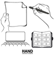 hand drawing pack vector image