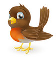cute cartoon robin vector image vector image