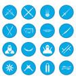 ninja icon blue vector image